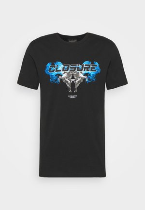 CHROME TEE - Print T-shirt - black