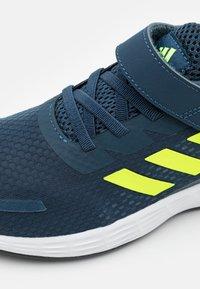 adidas Performance - DURAMO SL UNISEX - Sports shoes - crew navy/solar yellow/halo silver - 5