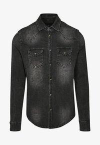 Brandit - HERREN RILEY DENIMSHIRT - Shirt - black - 0
