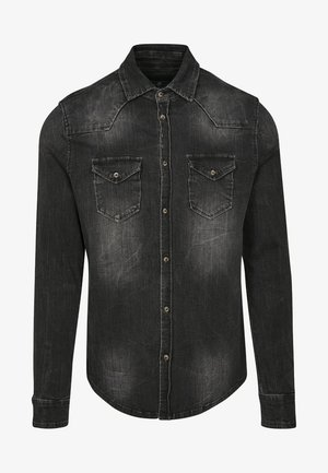 HERREN RILEY DENIMSHIRT - Overhemd - black