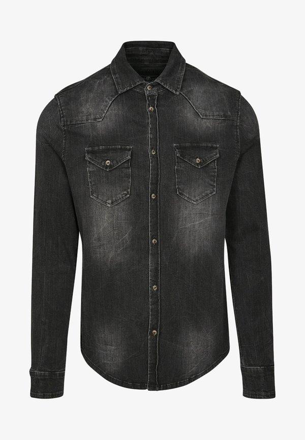 Brandit HERREN RILEY DENIMSHIRT - Koszula - black/czarny Odzież Męska VUHM