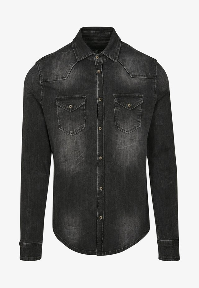 HERREN RILEY DENIMSHIRT - Camicia - black