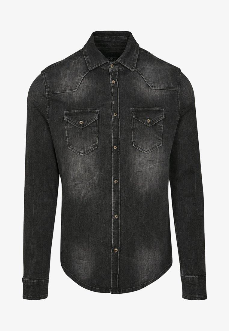 Brandit - HERREN RILEY DENIMSHIRT - Shirt - black