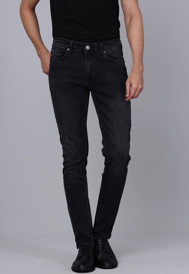 Slim fit jeans - black/grey