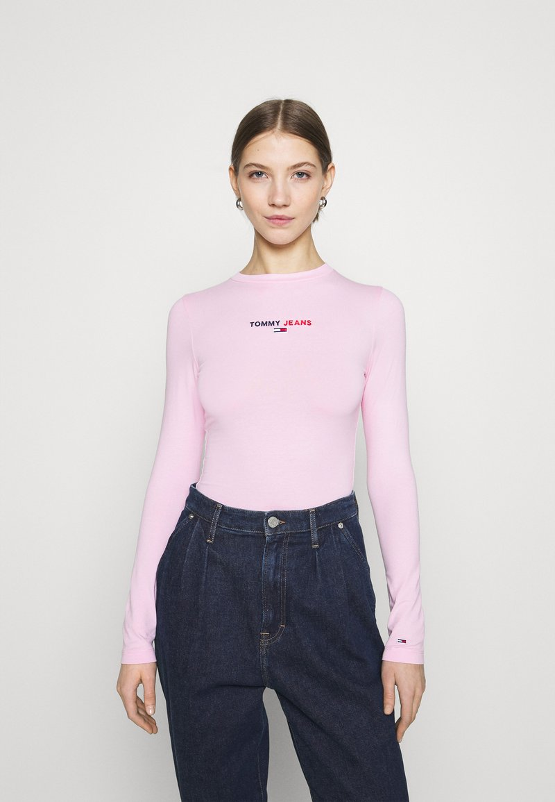 Tommy Jeans - LINEAR LOGO BODY - Maglietta a manica lunga - romantic pink