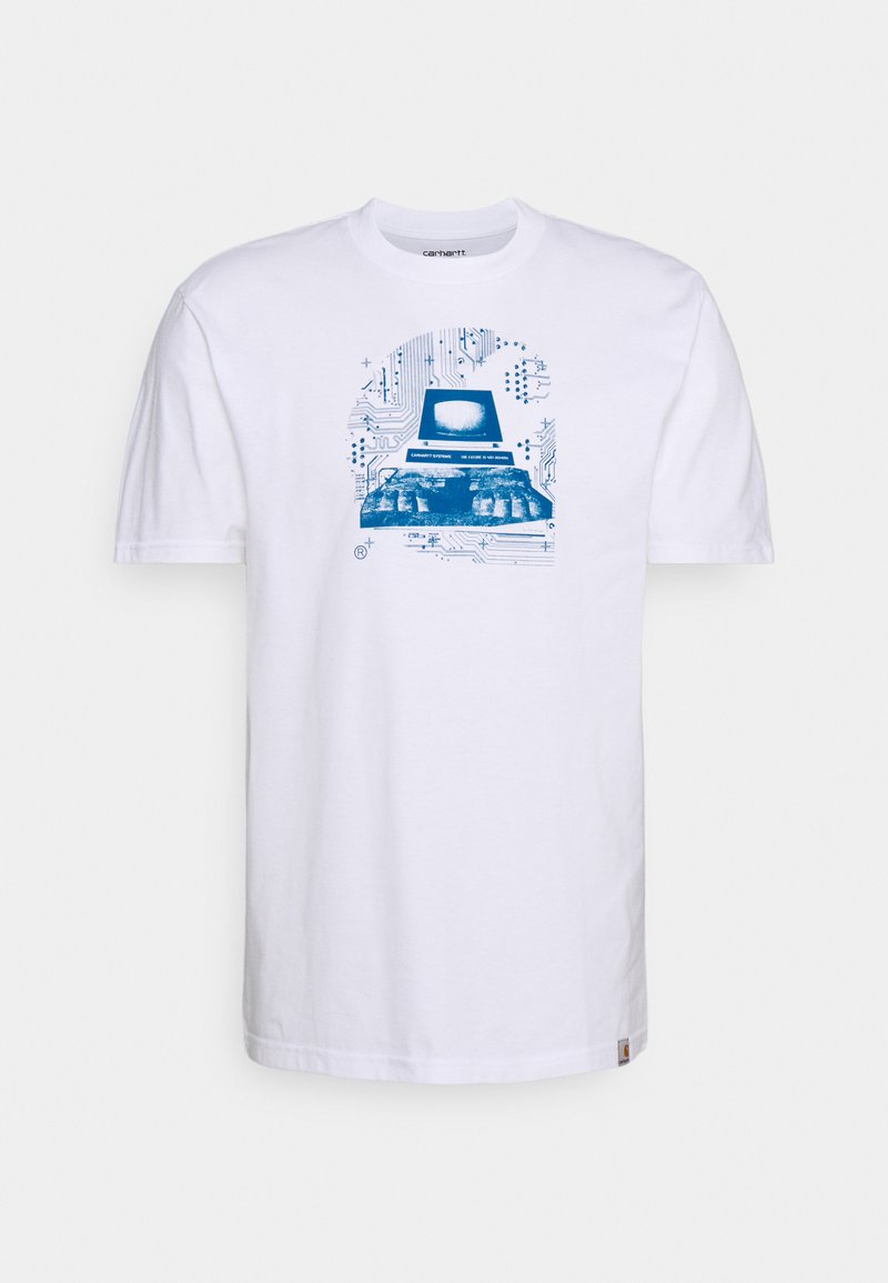 Carhartt WIP - SYSTEMS - Printtipaita - white/blue