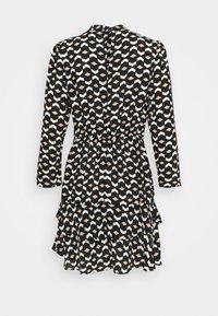 Dorothy Perkins - MINI TIERED HIGH NECK DRESS GEO PRINT - Day dress - black - 1