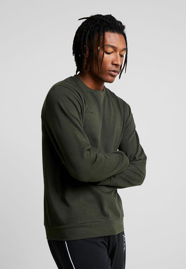 LOGO CREW NECK - Sweater - dark khaki