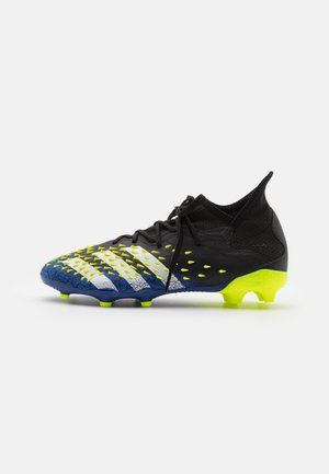 PREDATOR FREAK .1 FG UNISEX - Fußballschuh Nocken - core black/footwear white/solar yellow