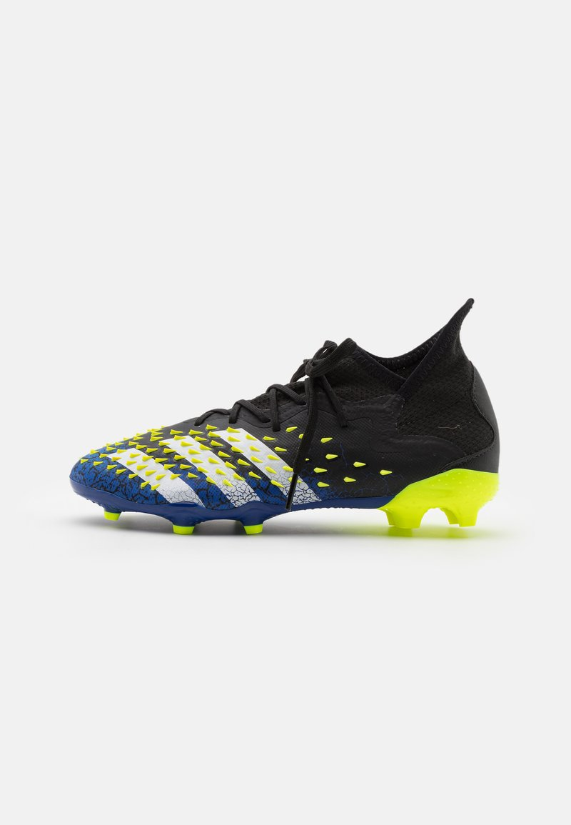 adidas Performance - PREDATOR FREAK .1 FG UNISEX - Moulded stud football boots - core black/footwear white/solar yellow