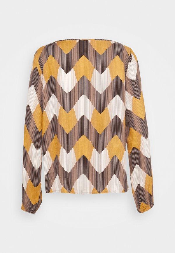 Re.draft PRINTED BLOUSE - Bluzka z długim rękawem - multi-coloured/wielokolorowy RGUM