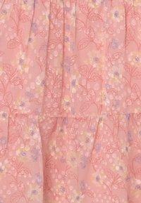 Chi Chi Girls - GIRLS PUFF SLEEVE TEXTURED FLORAL PRINT DRESS - Koktejlové šaty/ šaty na párty - pink - 2