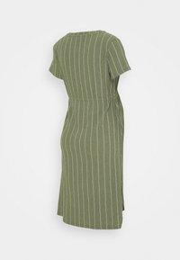 Supermom - DRESS STRIPE - Jersey dress - dusty olive - 1