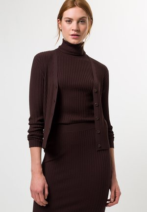 MIT KNOPFLEISTE - Cardigan - mocca