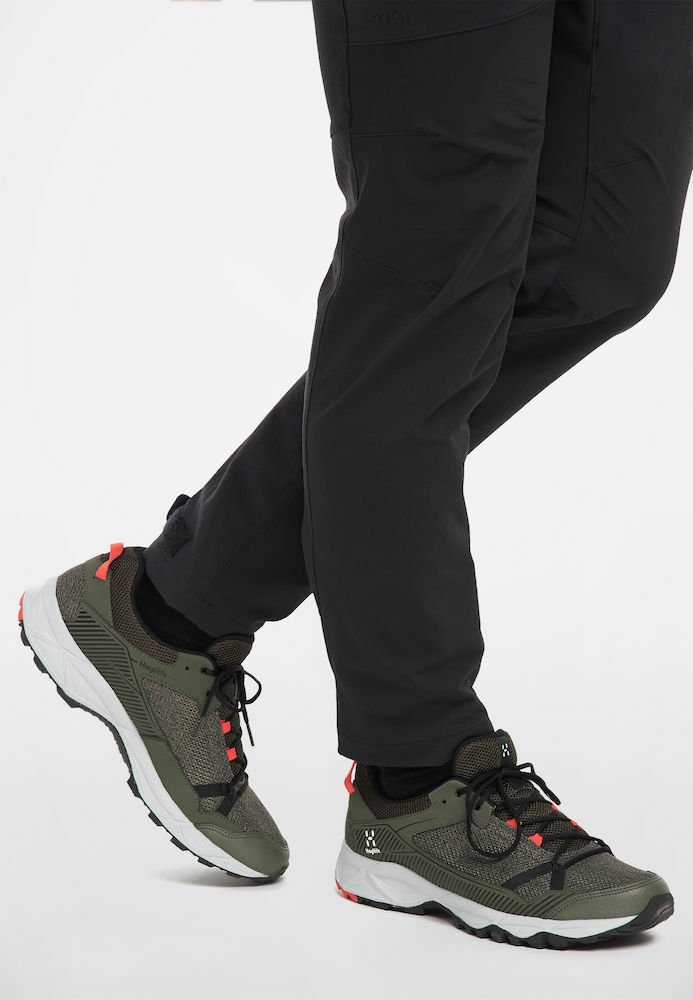 Haglöfs - TRAIL FUSE - Hiking shoes - deep woods/true black