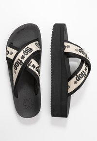flip*flop - CROSS TAPE HI - Pantolette flach - black - 3
