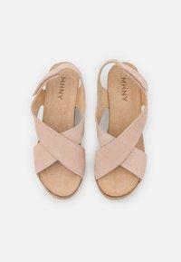 MAHONY - Platform sandals - nude - 5