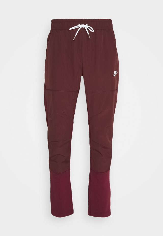 PANT - Tracksuit bottoms - dark beetroot/mystic dates/ice silver/white