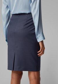 BOSS - VIKENA - Pencil skirt - dark blue - 3