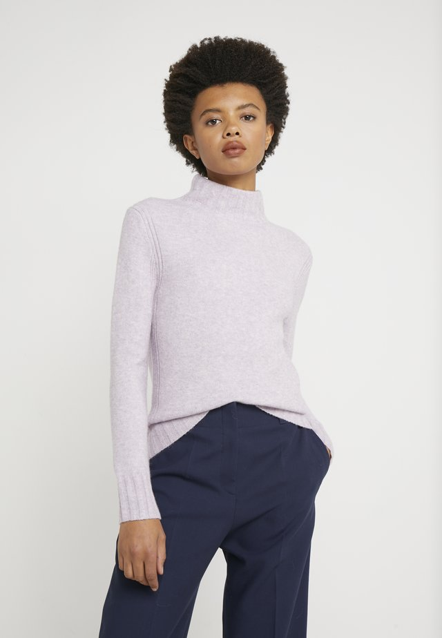 Isabel Mock Neck - Neule - heather orchid