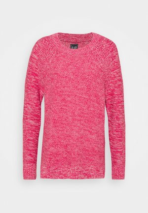 TEXTURED CREW - Sweter - misty rose