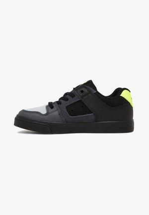 PURE ELASTIC - Skate shoes - black/grey/yellow