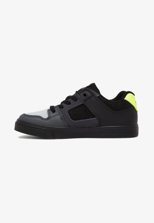 PURE ELASTIC - Trainers - black/grey/yellow