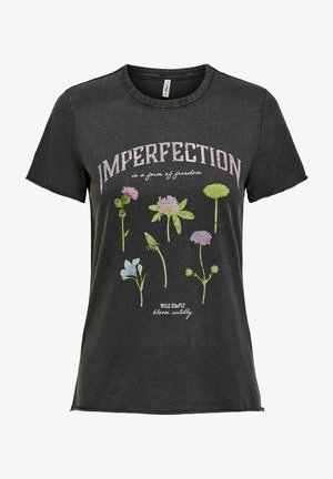 ONLLUCY LIFE WILDFLOWER  - Print T-shirt - black