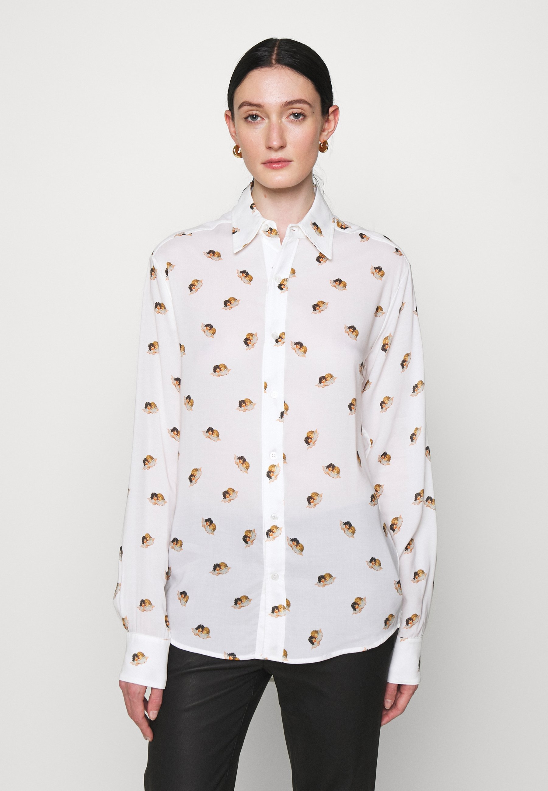 Women ALL OVER ANGELS PRINTED - Button-down blouse