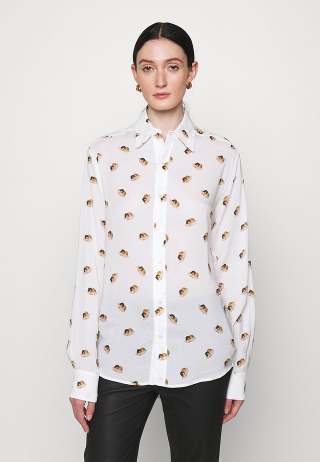 ALL OVER ANGELS PRINTED - Overhemdblouse - white