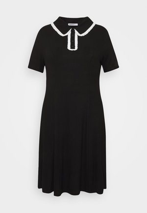 GLAMOUROUS COLLAR DRESS - Denní šaty - black/white