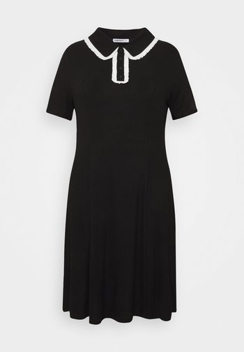 GLAMOUROUS COLLAR DRESS - Vestito estivo - black/white