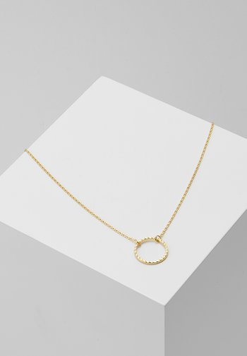 CIRCLE CUT OUT DITSY NECKLACE - Necklace - pale gold-coloured