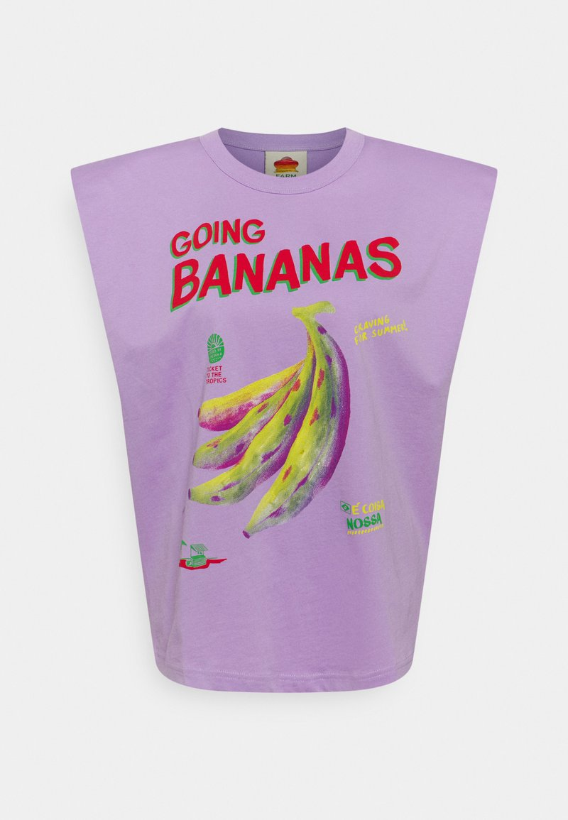 Farm Rio - GOING BANANAS GRAPHIC - Print T-shirt - lilac