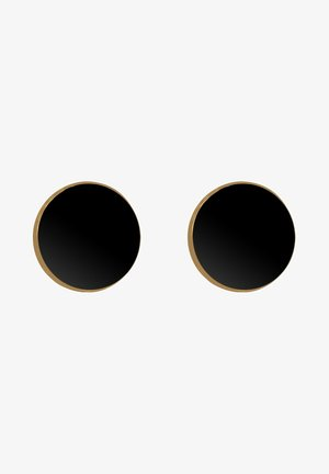 PLÄTTCHEN - Earrings - gold-coloured/black
