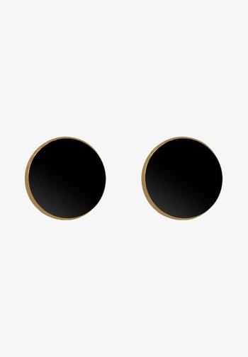 BASIC PLATES - Earrings - gold-coloured/black