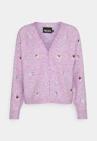 Pieces - PCCLARA - Cardigan - pastel lavender melange - 4