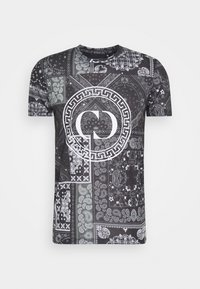 Criminal Damage - BANDANA TEE - T-shirt con stampa - black - 0