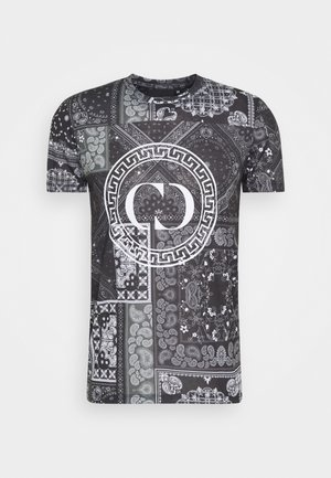 BANDANA TEE - Print T-shirt - black