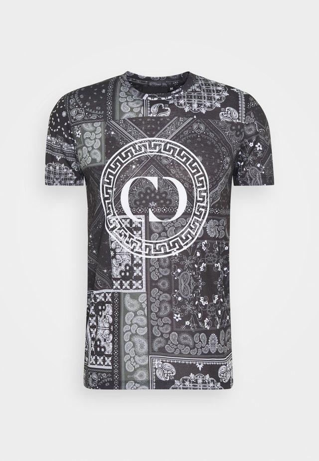 BANDANA TEE - T-shirt imprimé - black