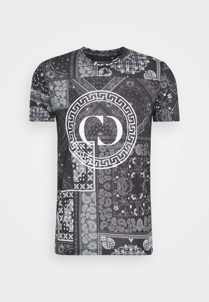 Criminal Damage - BANDANA TEE - T-shirt con stampa - black