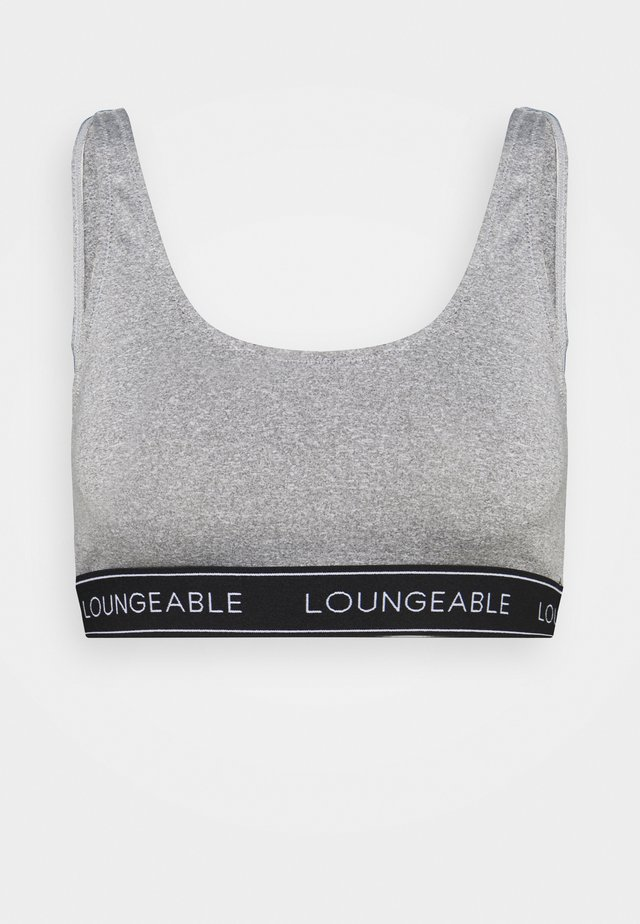 LOGO ELASTIC LOW BACK CROP TOP - Bustier - grey