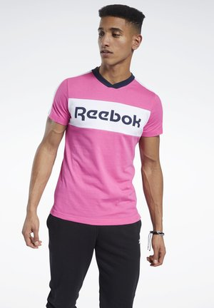 TRAINING ESSENTIALS LINEAR LOGO GRAPHIC T-SHIRT - T-shirt print - pink
