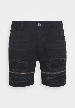 LARKIN - Short en jean - charcoal