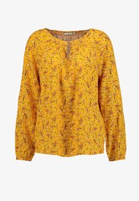 TOM TAILOR - BLOUSE WITH STRUCTURE - Blůza - yellow - 4