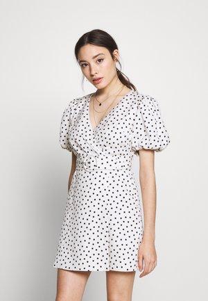 DRESS - Sukienka letnia - white/black