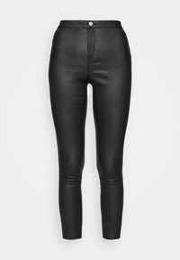 VICE HIGH WAISTED COATED SKINNY - Trousers - black