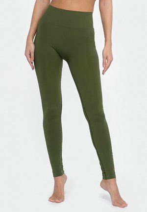 LEO STUD - Leggings - green bush
