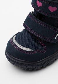 Superfit - HUSKY - Winter boots - blau/rosa - 5