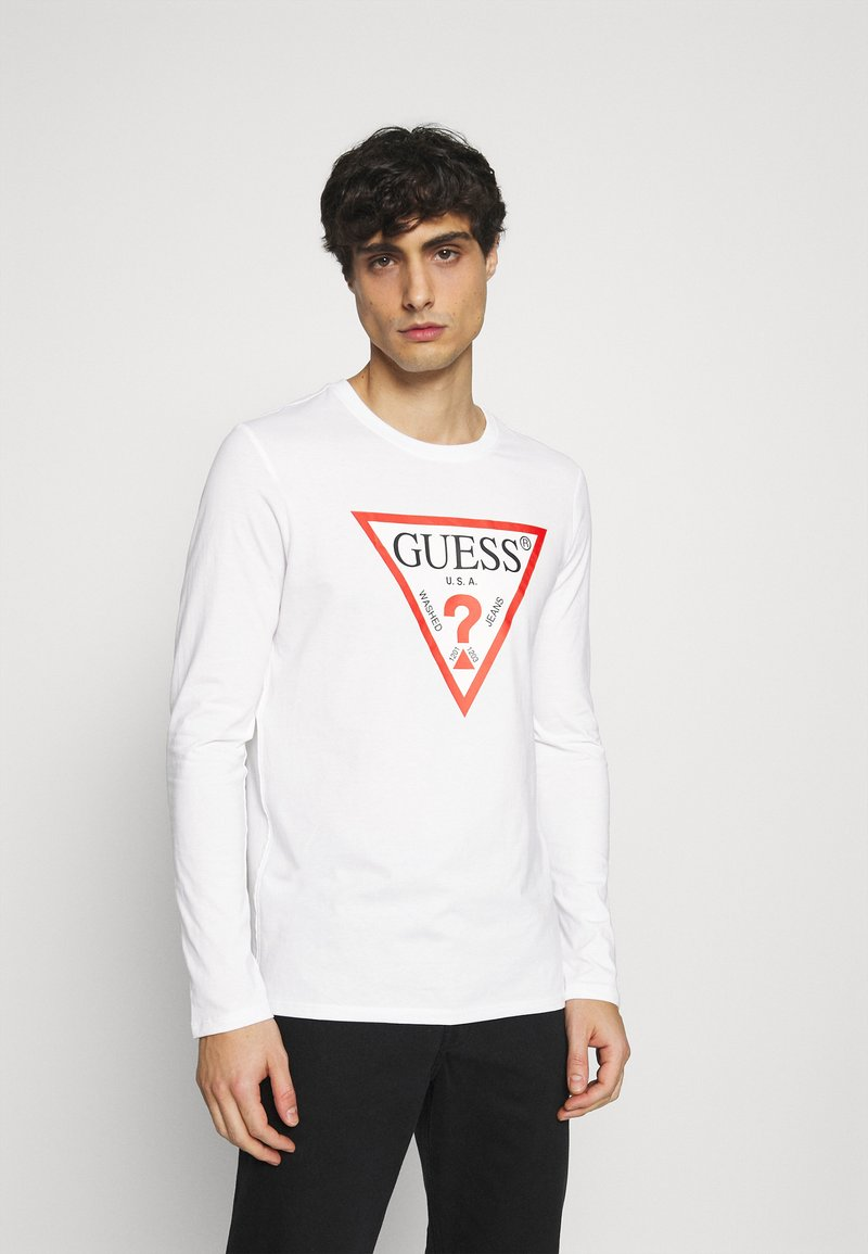 Guess - ORIGINAL LOGO - Long sleeved top - white